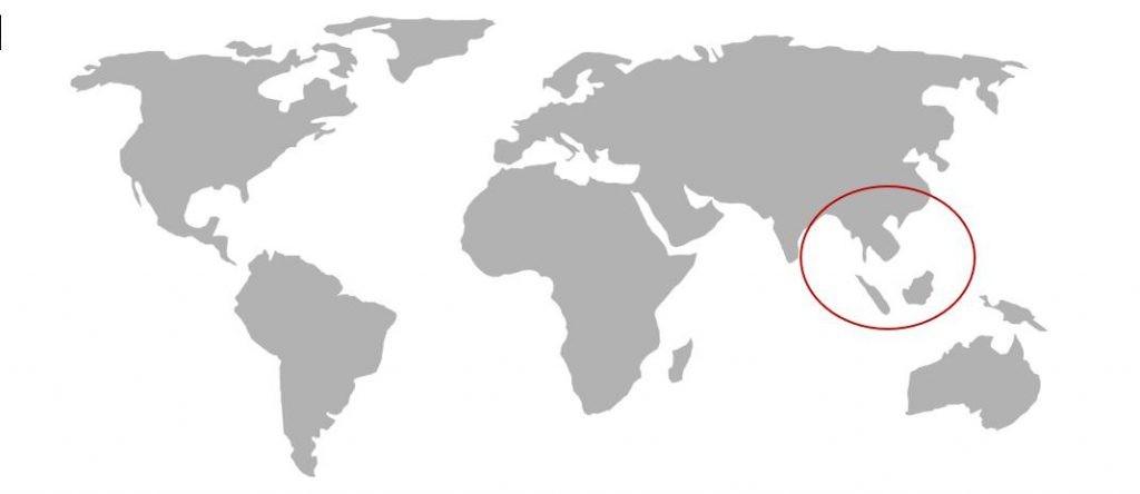 Weltkarte Asien